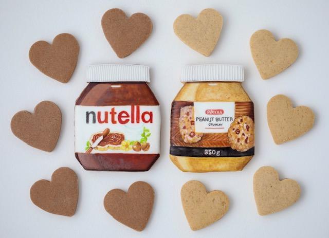 Gluteenittomat Nutella- ja Peanut Butter-keksit